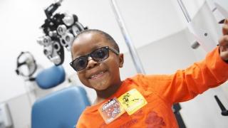 Vision Screening - child in glasses