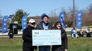 Walk for Hope check presentation at the event