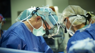 Doctors during fetal surgery