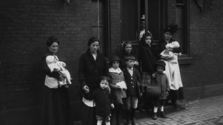 Mothers and Children outside CHOP in 1890s