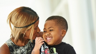 Zion with his Mom