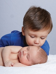 Baby Boy Bryce with brother Liam