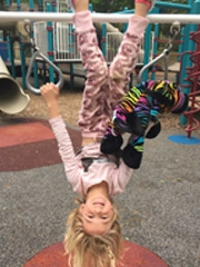 Fetal Patient Charlotte playing on playground
