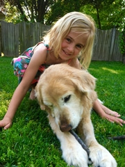 Patient Charlotte with her Puppy