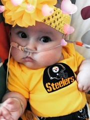 Isla wearing Steelers Jersey