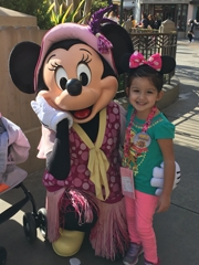 Miah with Minnie Mouse smiling