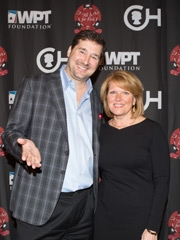 "Phil Helmuth and Madeline Bell at the 2015 ""All In\"" For Kids Poker Tournament"