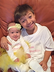Sofia-Rose and her brother