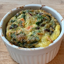 Vegetable and egg casserole