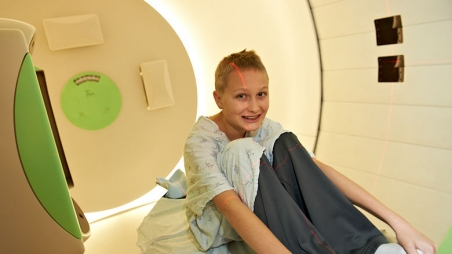 Teen before Proton Therapy