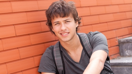male college student smiling
