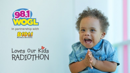 Radiothon logo with smiling child