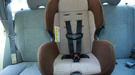 Installed car seat