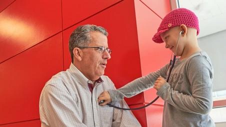 Dr. Adamson and patient