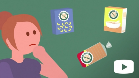 Screen shot from Celiac Disease animated video