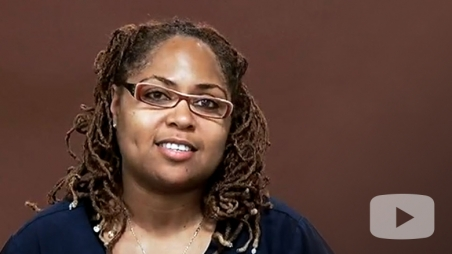Screenshot of Alicia from testimonial video