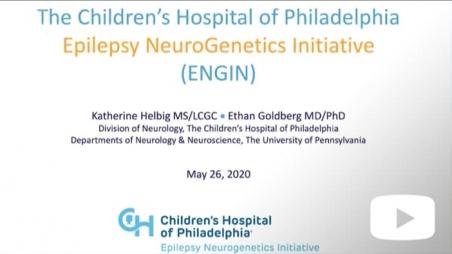 Title screen for Epilepsy Neurogenetics Initiative video