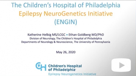 Title screen for Epilepsy Neurogenetics Initiative video