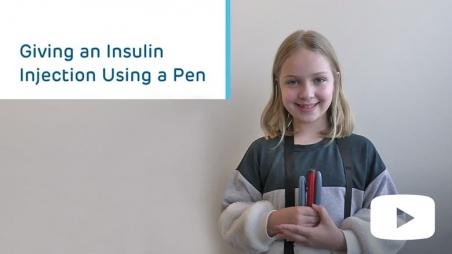 Giving an Insulin Injection Using a Pen