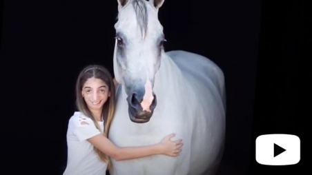 Olivia and her horse