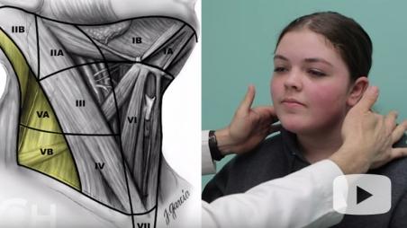 thyroid exam video screenshot
