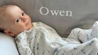 Baby Owen smiling