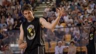 Joe playing basketball