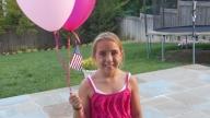 Katrina with balloons