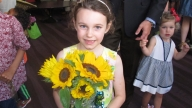 Lily with sunflowers