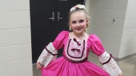 Mia in her dance costume