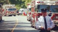 Matthew in firefighter uniform