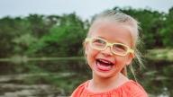 Closeup of Laurel smiling