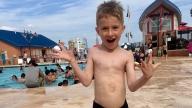 Jackson at the pool