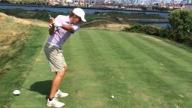 Patrick playing golf