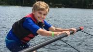 Shane waterskiing