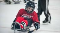 Gary playing hockey