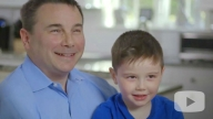 IBD patient Jacob and his father