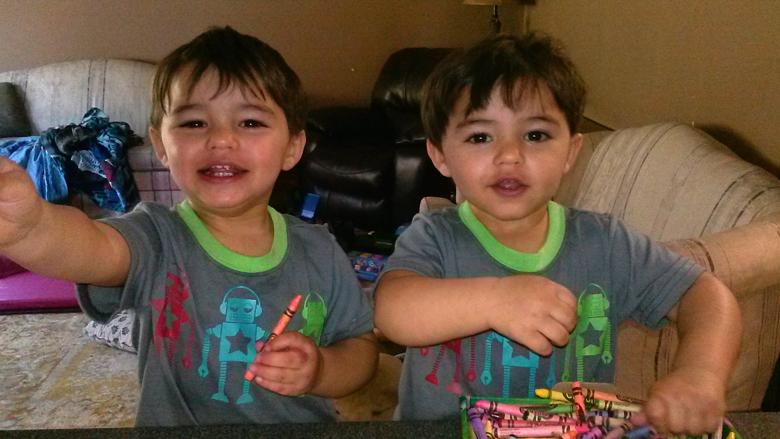 Twins Dillon and Aiden Vinjamuri TTTS