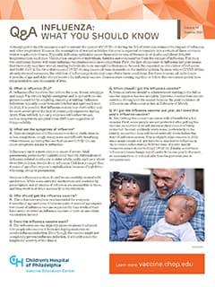 Influenza Fact Sheet