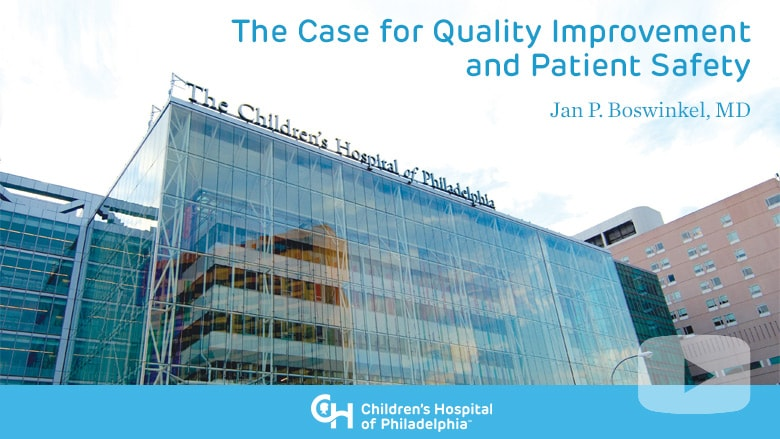 The Case for Quality Improvement and Patient Safety