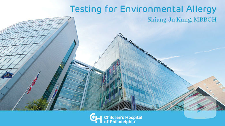 Allergy and Immunology – Testing for Environmental Allergy