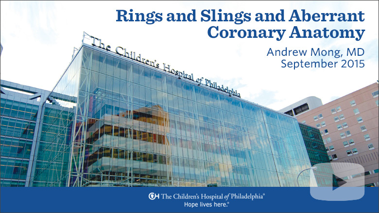 Radiology – Rings and Slings and Aberrant Coronary Anatomy